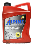 Alpine PD 5W-40 (4L)