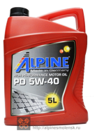 Alpine PD 5W-40 (5L)